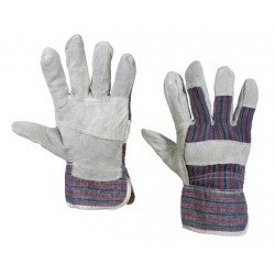 Leather Palm Gloves w/ Safety Cuffs