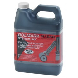 Rolmark Black Stencil Ink - Quart